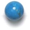 Semi-Precious 10mm Round Turquoise Howlite